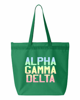 Alpha Gamma Delta Pastel Tote Bag
