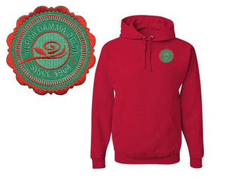 Alpha Gamma Delta Patch Seal Hooded Sweatshirt