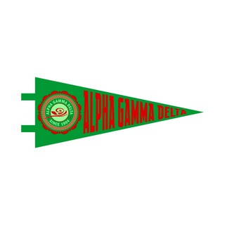 "Alpha Gamma Delta Pennant Decal 4"" Wide"
