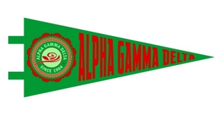Alpha Gamma Delta Pennant Decal Sticker