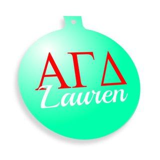 Alpha Gamma Delta Personalized Christmas Ornaments