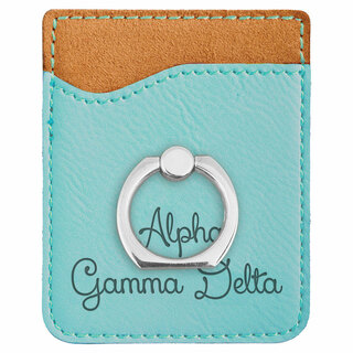 Alpha Gamma Delta Phone Wallet with Ring
