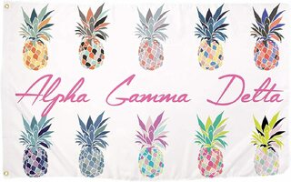 Alpha Gamma Delta Pineapple Flag