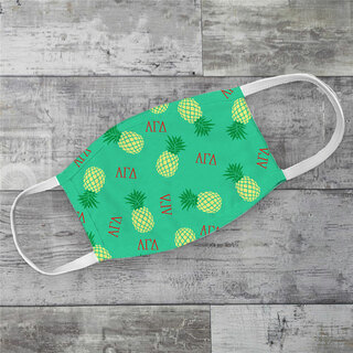 Alpha Gamma Delta Pineapples Face Mask