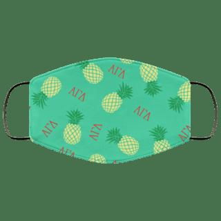 Alpha Gamma Delta Pineapples Face Mask