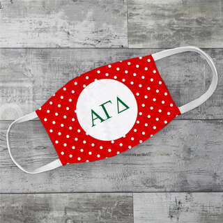 Alpha Gamma Delta Polka Dots Face Mask