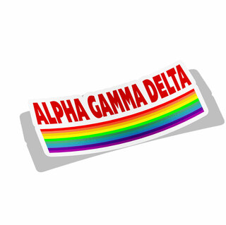 Alpha Gamma Delta Prism Decal Sticker