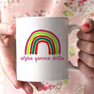 Alpha Gamma Delta Rainbow Coffee Mug