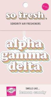 Alpha Gamma Delta Retro Air Freshener (2 pack)