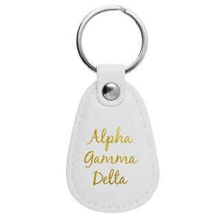 Alpha Gamma Delta Retro Key Chain