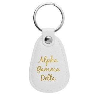 Alpha Gamma Delta Retro Key Chain