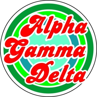 Alpha Gamma Delta Retro Round Decals