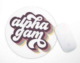 Alpha Gamma Delta Retro Script Mousepad