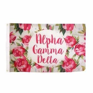 Alpha Gamma Delta Rose Flag