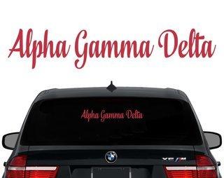 Alpha Gamma Delta Script Decal