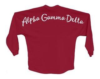 Alpha Gamma Delta Script Jersey