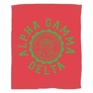 Alpha Gamma Delta Seal Fleece Blanket