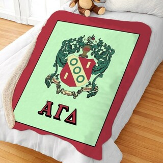Alpha Gamma Delta Sherpa Lap Blanket