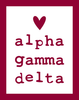 Alpha Gamma Delta Simple Heart Sticker