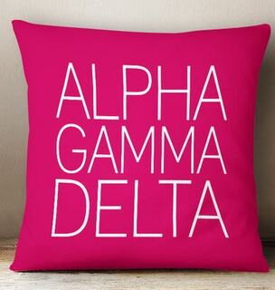 Alpha Gamma Delta Simple Pillow