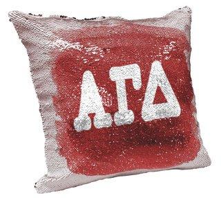 Alpha Gamma Delta Sorority Flip Sequin Throw Pillow Cover