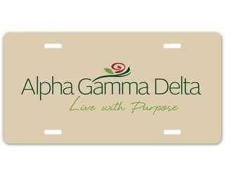 Alpha Gamma Delta Sorority Logo License Cover
