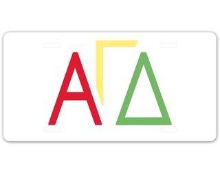 Alpha Gamma Delta Sorority Letters License Cover