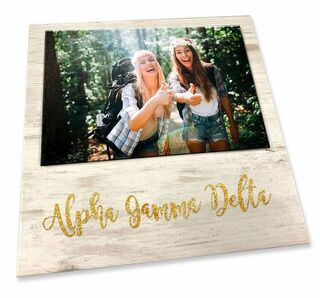 Alpha Gamma Delta Sorority Golden Block Frame