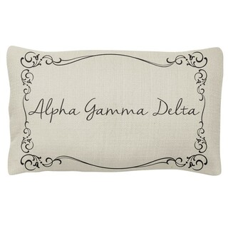 Alpha Gamma Delta Sorority Lumbar Pillows