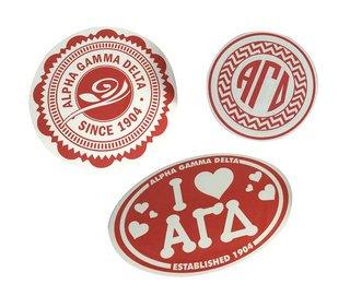 Alpha Gamma Delta Sorority Sticker Collection $5.95