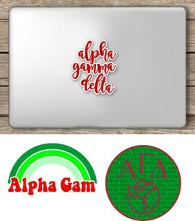 Alpha Gamma Delta Sorority Sticker Collection - SAVE!