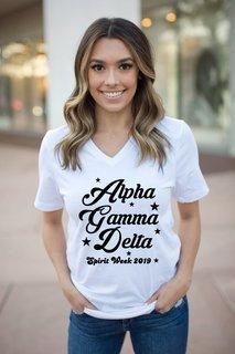 Alpha Gamma Delta Spirit Stars V-Neck