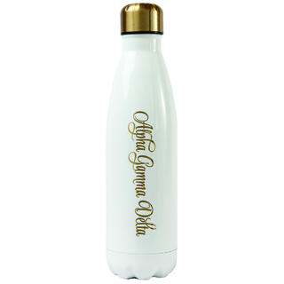 Alpha Gamma Delta Stainless Steel Shimmer Water Bottles