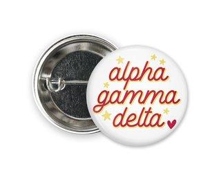 Alpha Gamma Delta Star Button