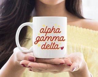 Alpha Gamma Delta Star Mug