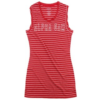 Alpha Gamma Delta Striped Tee Dress