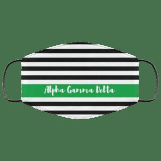 Alpha Gamma Delta Stripes Face Mask
