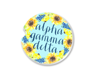 Alpha Gamma Delta Sunflower Car Coaster