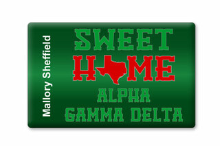 Alpha Gamma Delta Sweet Home Ceramic Magnet