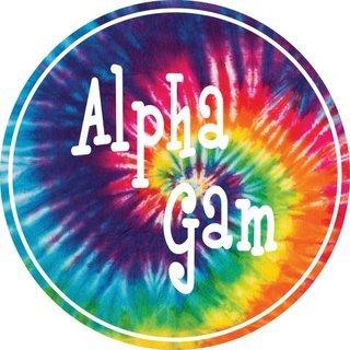Alpha Gamma Delta Tie-Dye Circle Sticker