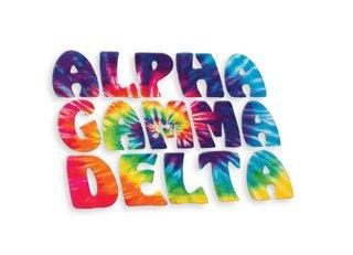 Alpha Gamma Delta Tie-Dye Stack Sticker