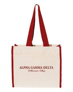 Alpha Gamma Delta Tote with Contrast-Color Handles