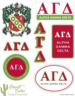 Alpha Gamma Delta Traditional Sticker Sheet