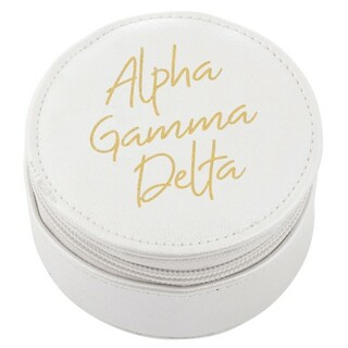 Alpha Gamma Delta Travel Round Case