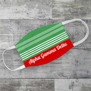 Alpha Gamma Delta Two Tone Stripes Face Mask