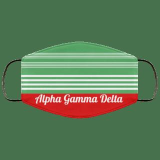 Alpha Gamma Delta Two Tone Stripes Face Mask
