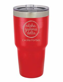 Alpha Gamma Delta Vacuum Insulated Mascot Tumbler