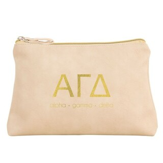 Alpha Gamma Delta Vegan Leather Cosmetic Bags