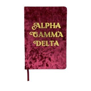 Alpha Gamma Delta Velvet Notebook
