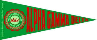 Alpha Gamma Delta Wall Pennants